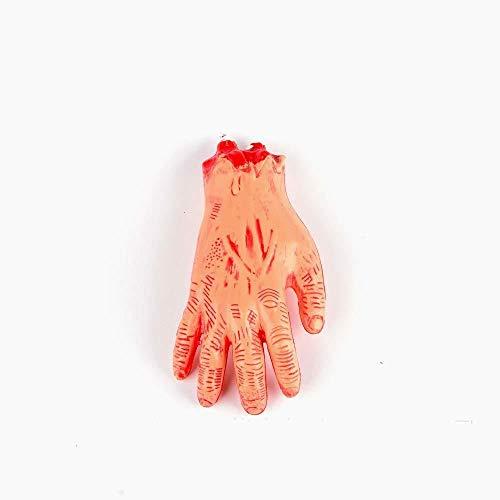 (Snner Horror Blutige realistisch gefälschter Severed Arm gebrochen Hand Beine Fuß Körperteile Streich-Trick-Aprilscherz-Halloween-Party Props (gebrochener Arm) 1 PC)