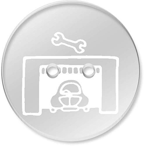 Azeeda 8 x 23mm 'Autogarage' Klar Knopfe (BT00076362)