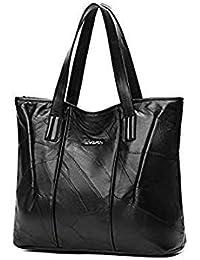 38517b251c Fashion Women Sheepskin Stitching Handbag Casual Tote Patchwork Shoulder  Bag Large Ladies Shopping Bags Soft Skin