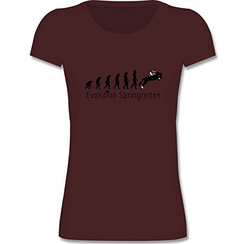 Evolution Kind - Springreiten Evolution - 152-164 (12-14 Jahre) - Burgund - F288K - Mädchen T-Shirt