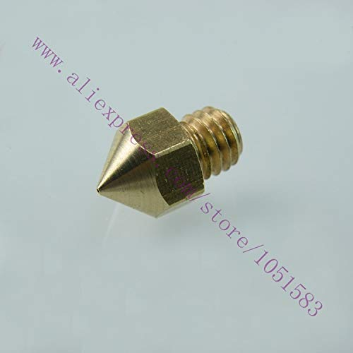 BHPSU 5 Stück Reprapmakerbot 0,2/0,3/0,4/0,5 mm Kopf Messingdüse für 3D-Drucker MK8 Düse 1,75/3,0 mm Pla/ABS