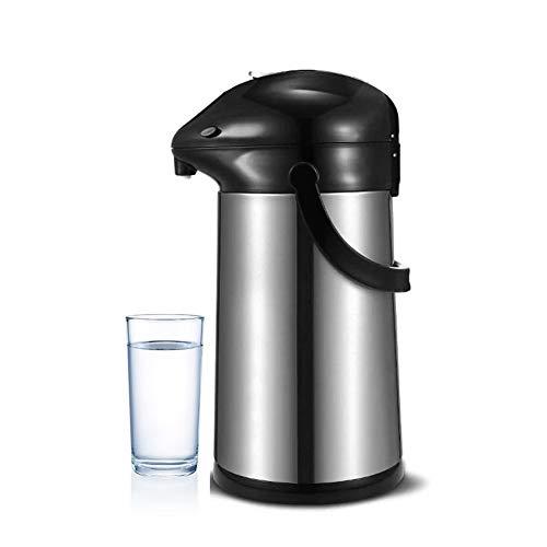 Airpot Pumpkanne Thermoskanne Isolierkanne Edelstahl Kaffee, Tee Krug, Hohe Kapazität Gute Qualität Vakuum Isoliert Mit Tragegriff, Thermosflasche Für Zuhause, Büro, Camping (Schwarz,3L)