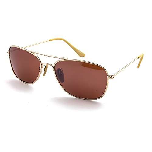 Kiss Sonnenbrille mod. AIRCRAFT Kleine Größe (S) - mann frau VINTAGE stil aviatore PILOT - GOLD/Amber