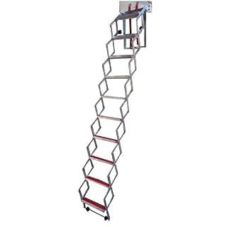 Unique 2.74m (9') Concertina Loft Ladder - Superb Compact Design