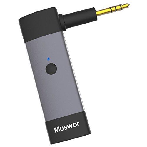 Muswor Bluetooth Empfänger Drahtlos Adaptor für Audio Technica ATH-M50x/ATH-M40X/ATH-M70x und Sennheiser HD598 SR/Sennheiser HD 598 Cs/HD 599/HD569/HD 559 Kopfhörer (Nicht Kompatibel mit Anderen) (Csr-matte)