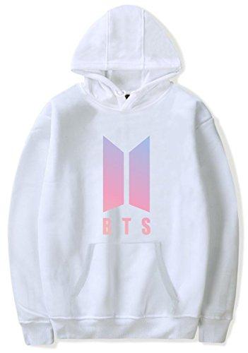 SERAPHY Femmes BTS Hoodies Hiver Chaud Pulls pour Les Femmes et Les Hommes Sweatshirts Mode Kpop Sweats à Capuche 97 Blanc L SERAPHY