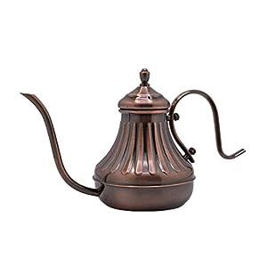 YJSMXYD Gießkanne 450 ml Vintage Bronze Gooseneck Kaffeekanne Übergießkaffeekessel Mit Filter Hand Tropf Kaffeekanne Tee Percolator Teekanne Innenreinigung Gartenbewässerung Werkzeug