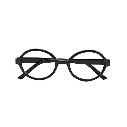 Papamsy Vintage Fashion Unisex Kunststoff Runde Brillengestell Keine Linse Blau|5 Farbe|Schwarz