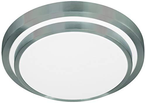 Oslo-serie (Action Deckenleuchte, 1-flammig, Serie Oslo, 1 x LED, 15 W, Höhe 9 cm, Durchmesser 35 cm, Kelvin 3000, Lumen 1100, aluminium gebürstet 967001630330)