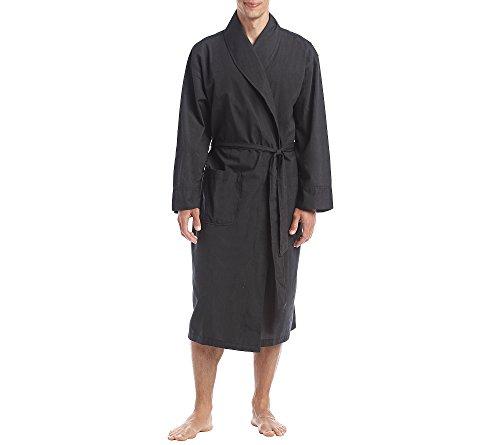 Hanes Herren-robe (Herren Big & Tall Schal Robe Schwarz 3X / 4X)