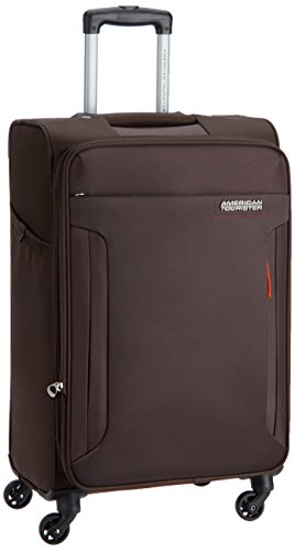 American Tourister Troy Polyester 68 cms Chocolate Brown Softsided Suitcase (AMT TROY SP68 CHOC BROWN)