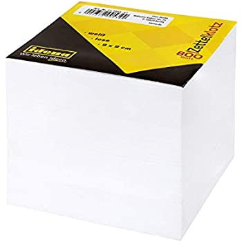 Zettelbox transp.gef/üllt lose wei/ß RC 9x9x9cm 800 Bl