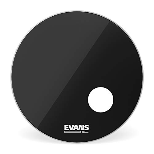 Evans BD22RB Bass Drum Resonanzfelle, schwarz, 12,7 cm (5 Zoll) Loch 55,8 cm (22 Zoll)