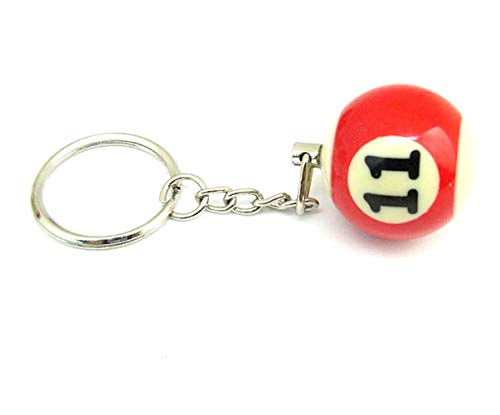 Inception Pro Infinite (NR.11) Schlüsselanhänger mit Anhänger - Billardkugel - Anzahl - Pool Billard - Geschenkidee - Mann - Frau - Unisex
