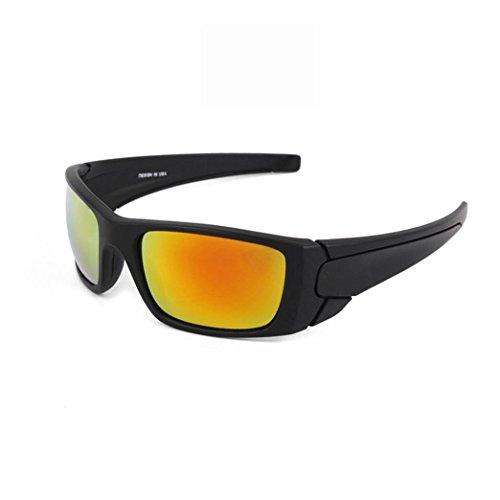 sunshineBoby Herren Sonnenbrillen Radfahren Fahren Reiten Schutzbrille Outdoor Sports Eyewear--Damen und Herren Polarisierte Medium / groß ÜBERBRILLE Das Fit über Brillen. Sonnenüberbrille für Fahrrad (Mehrfarbig D)