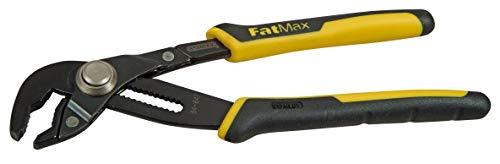 Stanley FatMax Wasserpumpenzange (203 mm Länge, Einstellung per PushLock, 17 Positionen, ergonomischer Handgriff) 0-84-647