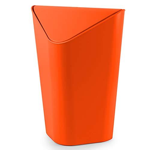 YANZHEN Mülleimer Swing Top Lip Versteckter Müllsack Geruchlos Kein Deformations-Dreieck PP-Kunststoff, 4 Farben | 10 Liter (Farbe : Orange, größe : 26x24x35.5cm(10L))