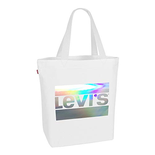 Levi's - The Everyday Two Face Tote, Bolsos totes Mujer, Blanco (Regular White), 39x14x30 cm (W x H L)