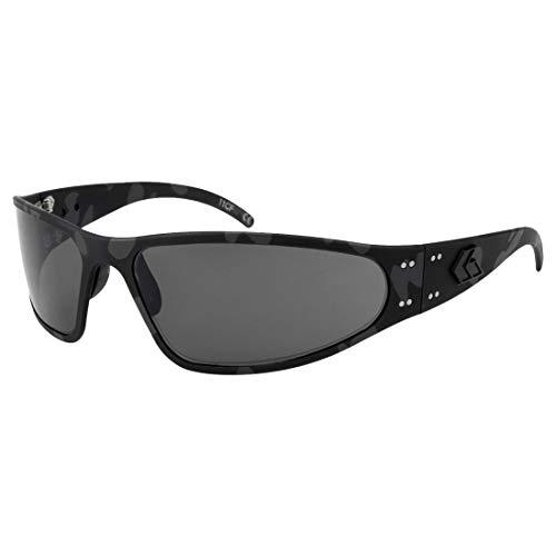 Gatorz Wraptor Sonnenbrille, Cerakote Camo, Aluminiumrahmen, (getönte polarisierte Gläser) Schwarz