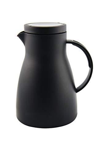 Xtra, Pichet Isotherme, La Bouteille Thermos, Pot de café, Haute qualité kunststof, 1.0 Liter, Thermo Boi, Noir