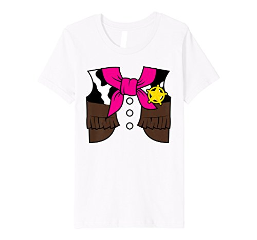 Kinder Kinder Cowgirl Outfit Halloween-Kostüm Horse Rider T-Shirt