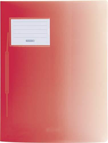 Fact 10-2015023 Schnellhefter mit Namensschild / rot