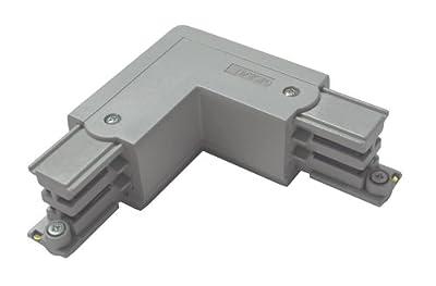 GlobalTrac 3-Phasenstromschiene L-Kupplung Schutzleiter innen grau silbergrau von Global Trac bei Lampenhans.de