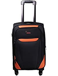 """F Gear Bavaria 20"""" Polyester 50 Ltrs Black Softsided Carry-On (2309)"""