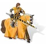 Bullyland 80895 - Tunierritter mit Pferd, gelb