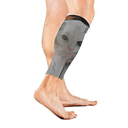 Otter Seaweed Pattern Komprimierungshülsen für Waden Männer und Frauen Fußlose Beinstützhülsen Abgestufte Komprimierungshülsen für eine gesunde Durchblutung Schmerzlinderung beim Laufen beim