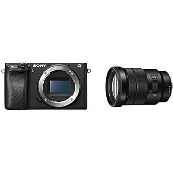 Sony Alpha 6300Sistema de cámara E-mount Cámara Body (24,2Mpx, sensor Exmor CMOS APS-C con BIONZ X, AF híbrido rápido con 0,05segundos. Tiempo de respuesta, 425fases AF de puntos, visor OLED XGA) Negro