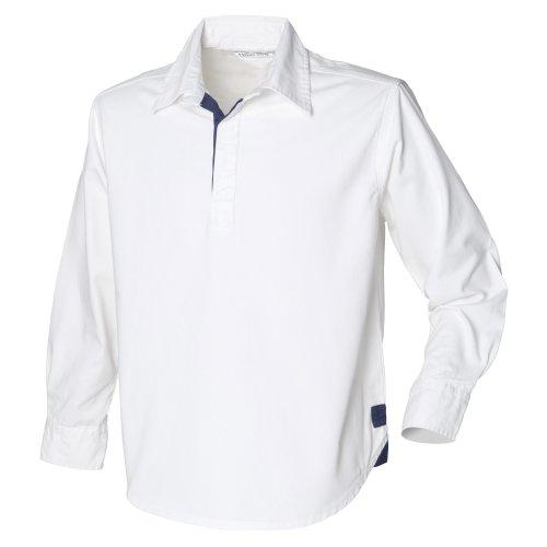 Front Row - Polo 100% Cotone Tinta Unita - Uomo Bianco