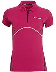 Babolat Polo match performance torso-ropa para mujer rosa rosa Talla:small