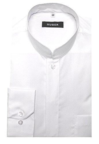 Stehkragenhemd Asia weiss S (Weiß-mandarin-kragen-shirt)