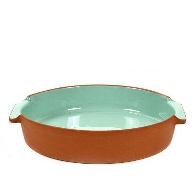 Jansen + Co Grand rond plat à four en terre cuite