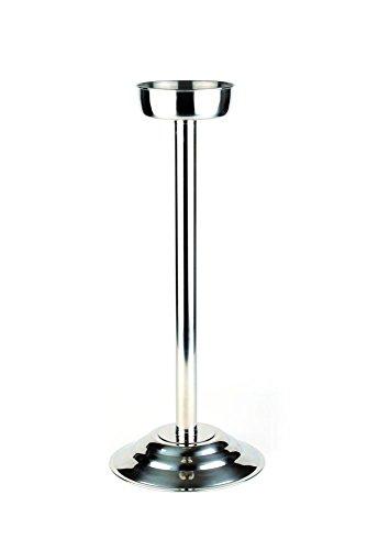 APS Weinkühler Ständer ca. Höhe 68 cm, Durchmesser Schale 15 cm Edelstahl poliert schwerer...
