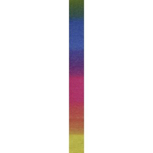 LANG YARNS Super Soxx Cashmere Color - Farbe: Regenbogen (0025) - 100 g / ca. 380 m Wolle -