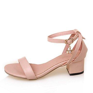 LvYuan Da donna Sandali Comoda Alla schiava Finta pelle Estate Casual Formale Comoda Alla schiava Quadrato Bianco Blu Rosa 5 - 7 cm blushing pink