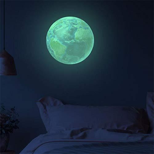 Leuchtsticker Wandtattoo 3D Planet Leuchtaufkleber, Rovinci Wandsticker Selbstklebend 30cm Fluoreszierend Wandaufkleber Leuchtender Hausdekoration DIY, Schlafzimmer Wohnzimmer Kinderzimmer