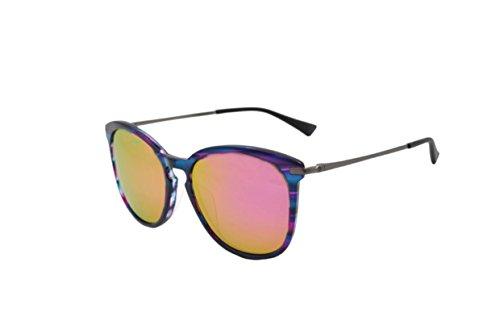 Sonnenbrille Crocs, CS050 rosa und metall polarisiert