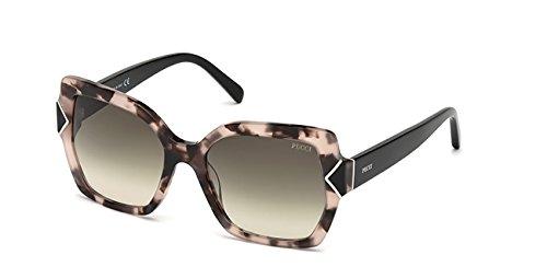 Emilio pucci ep0070 55b 56 occhiali da sole, avana colorata\fumo grad, unisex adulto