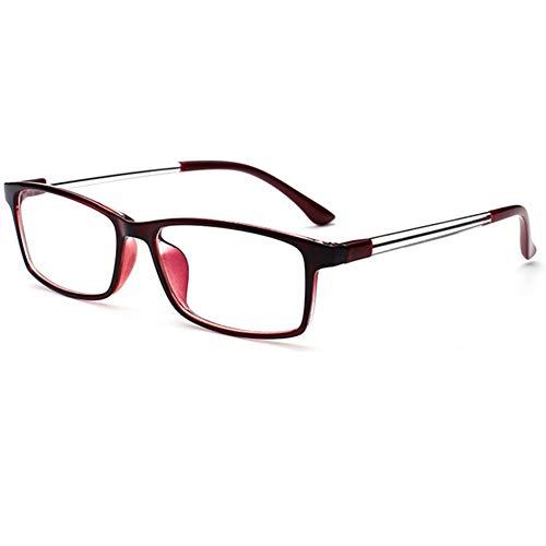 YUNCAT Klassische Brille Extra Schmaler Rahmen Slim Rechteck Nerd Clear Damen Herren Brille
