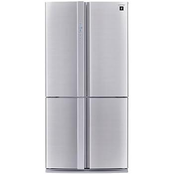 Sharp SJ-FP810VST - frigo américain (Autonome, Noir, Acier inoxydable, Porte française, A+, SN, T, Bas)