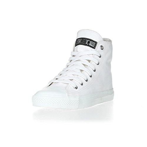 Ethletic Sneaker HiCut Collection 17 aus Bio-Baumwolle – just white / weiß – nachhaltig & fairer High-Sneaker - 2