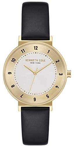 Kenneth Cole Montre Classique à Bracelet en Cuir avec Cadran argenté pour Femme KC50075002