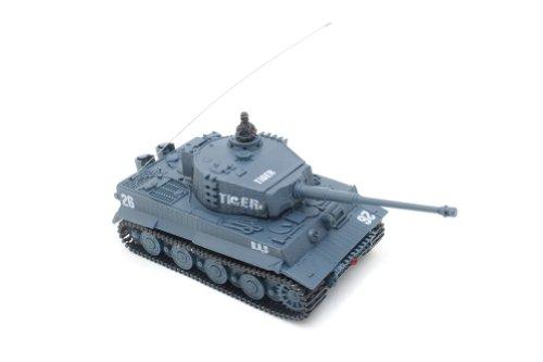 Ferngesteuerter Mini RC Panzer GERMAN TIGER I - Modellbau R/C Battletank mit Schussfunktion, Sound & Licht - 1:72 Maßstab -