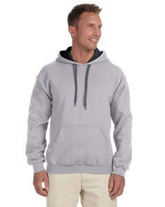 Heavy Blend Contrast Hooded Sweatshirt - Farbe: Sport Grey/Black - Größe: S -