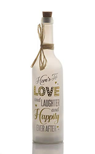 Boxer Gifts Happily Ever After-Starlight Flasche, Weiß