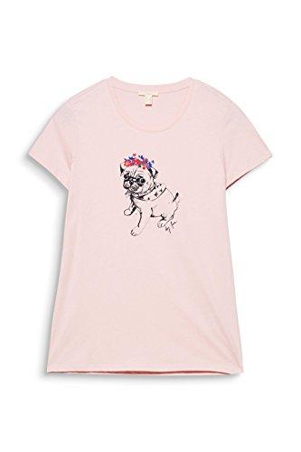 ESPRIT Damen T-Shirt Rosa (Light Pink 690)