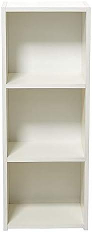 AFT Wood Medium Book Shelf With 3 Shelves, White